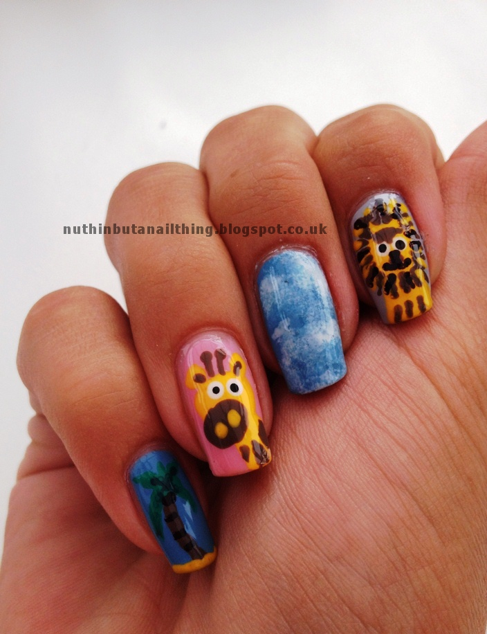 Hippo Nail Art Nuthin' but a nail thing: day