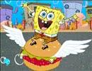 SpongeBob Love to eat Hamburgers
