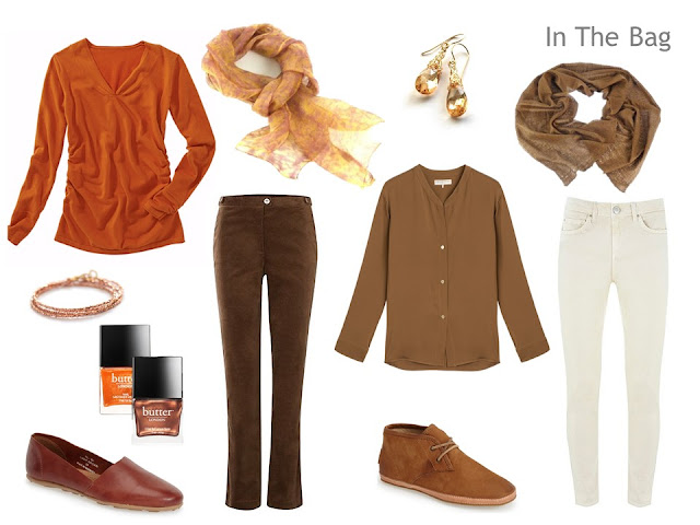 Packing for a long weekend, in warm colors inspired by Flaming June by Sir Frederic Leighton