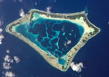 Atafu atoll in Tokelau in the Pacific Ocean