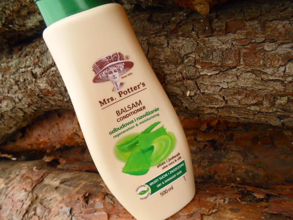 Mrs. Potter's | Balsam odbudowa i nawilżenie | aloes i jedwab | włosy suche i zniszczone