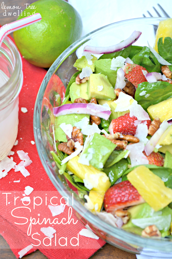 Tropical Spinach Salad | Lemon Tree Dwelling