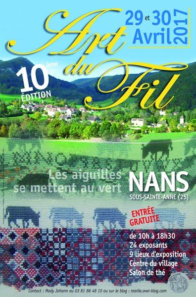 Art du Fil à Nans sous Sainte Anne les 29 et 30 avril 2017