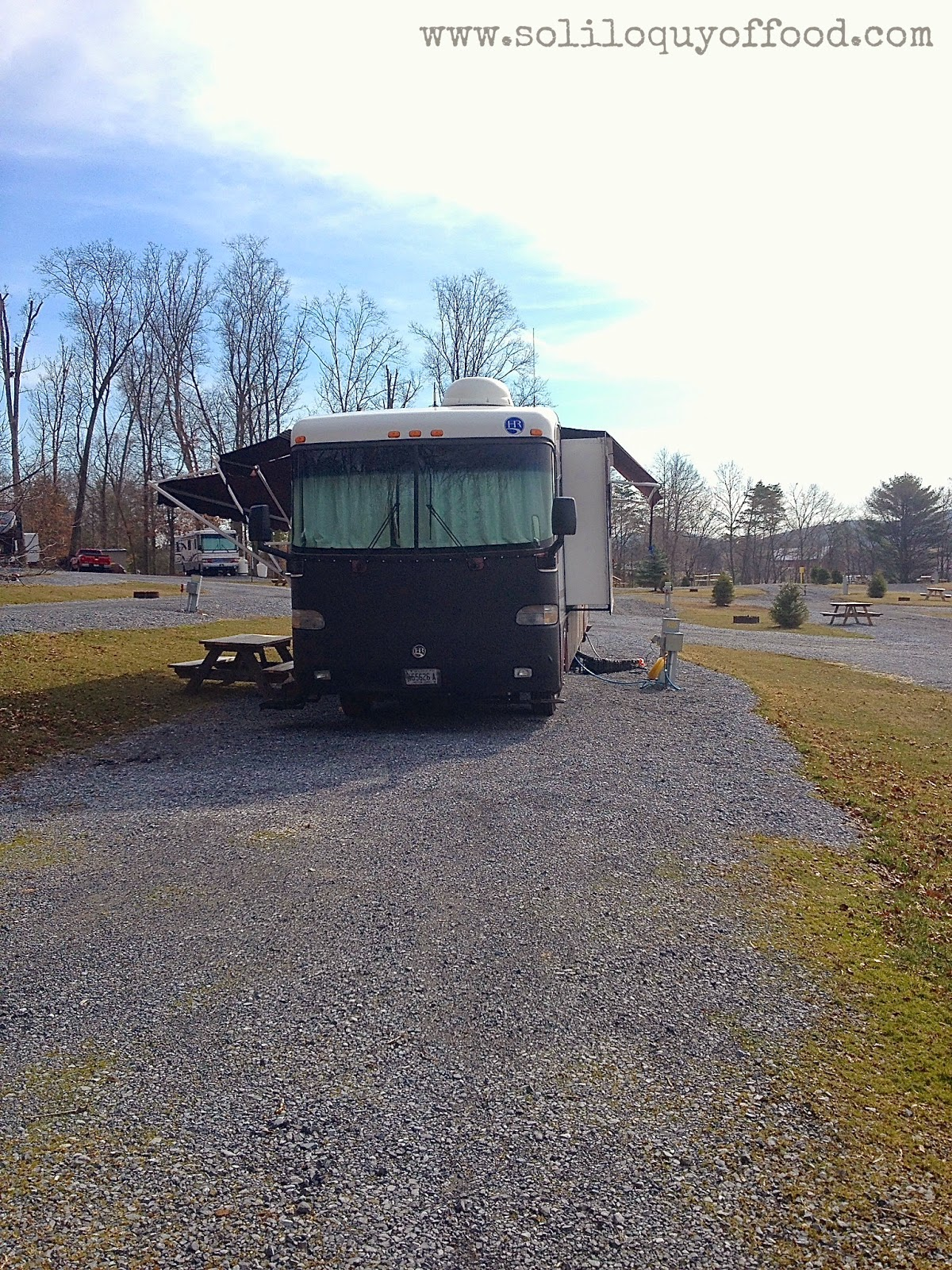 Chaos On Wheels | Yup, the awnings work!  Twin Grove RV Park, Pine Grove, PA - www.soliloquyoffood