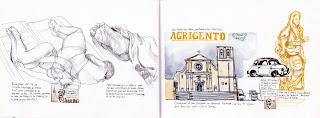 alex bochard croquis carnet voyage italie sicile