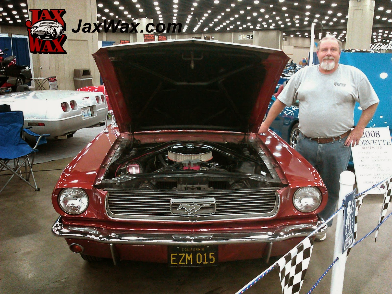 1966 Ford Mustang Convertible Carl Casper Auto Show Jax Wax Customer