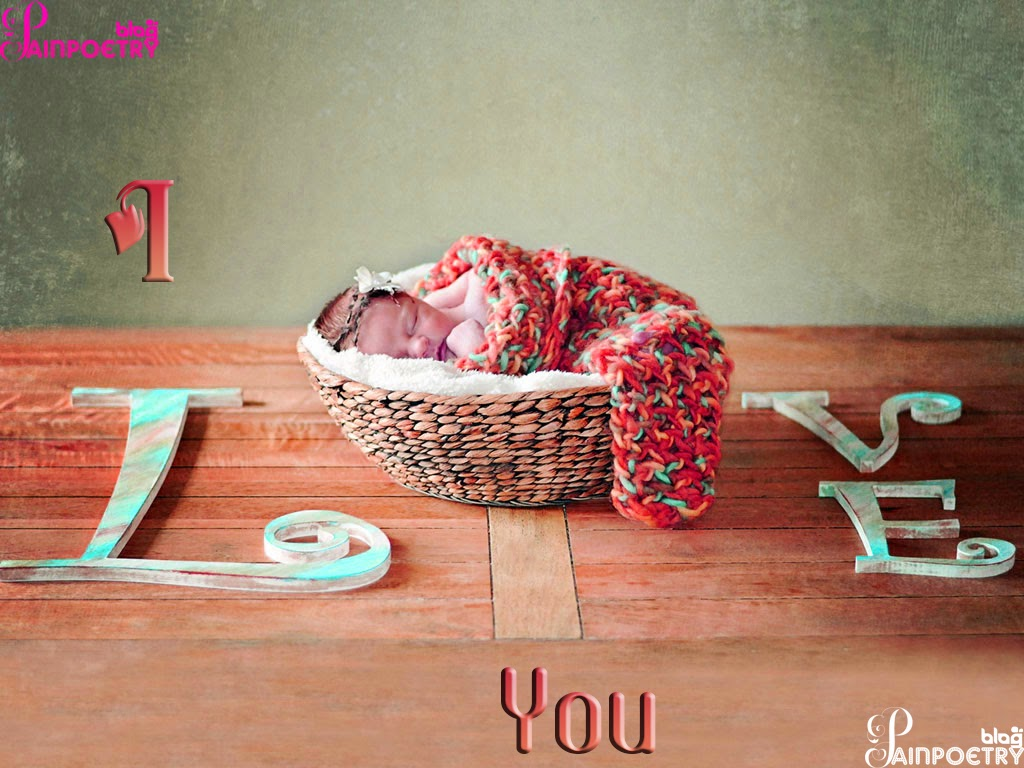Love-Wishes-Wallpaper-With-Baby-Sleeping-In-Basket-Image-HD