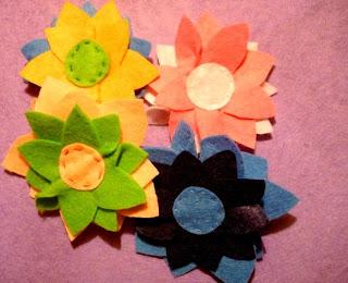 jak zrobić kwiatek z filcu