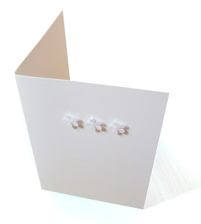 Handmade notecards with little white flowers