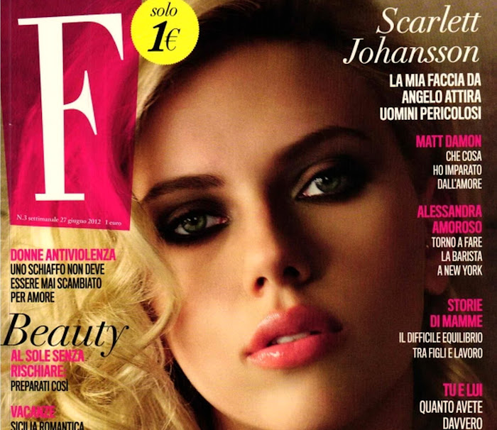 Scarlett Johansson on the cover of  F Magazine Italy June 2012 Issue
