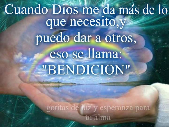 bendicion Dios