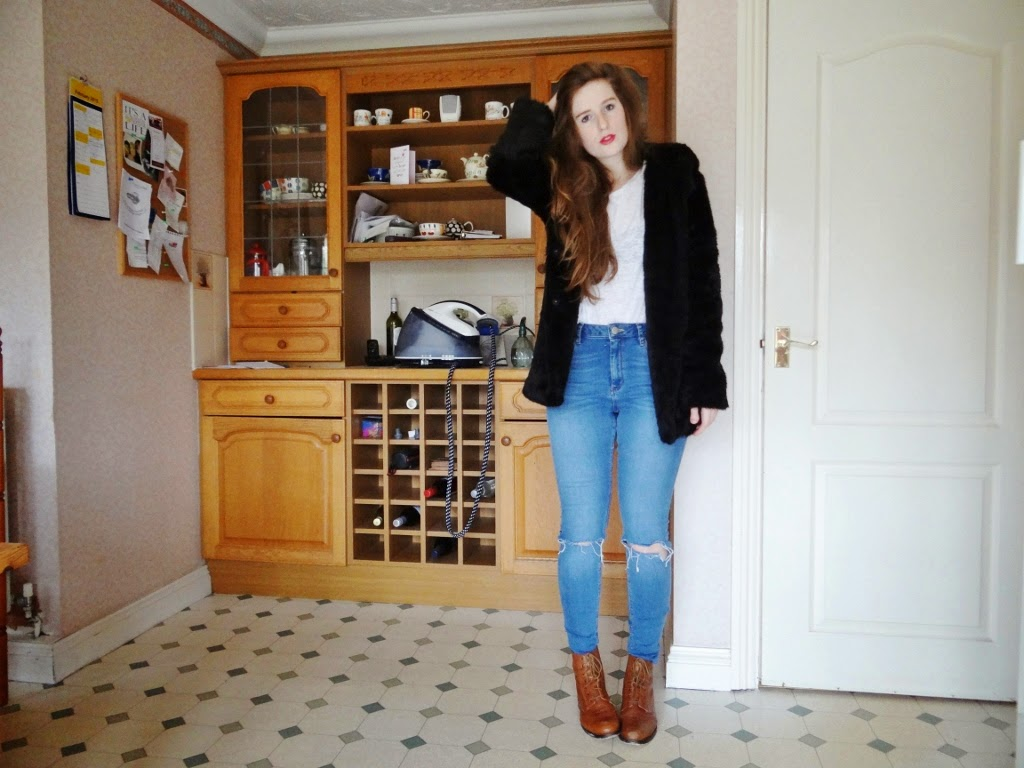 faux fur jacket from celeblook