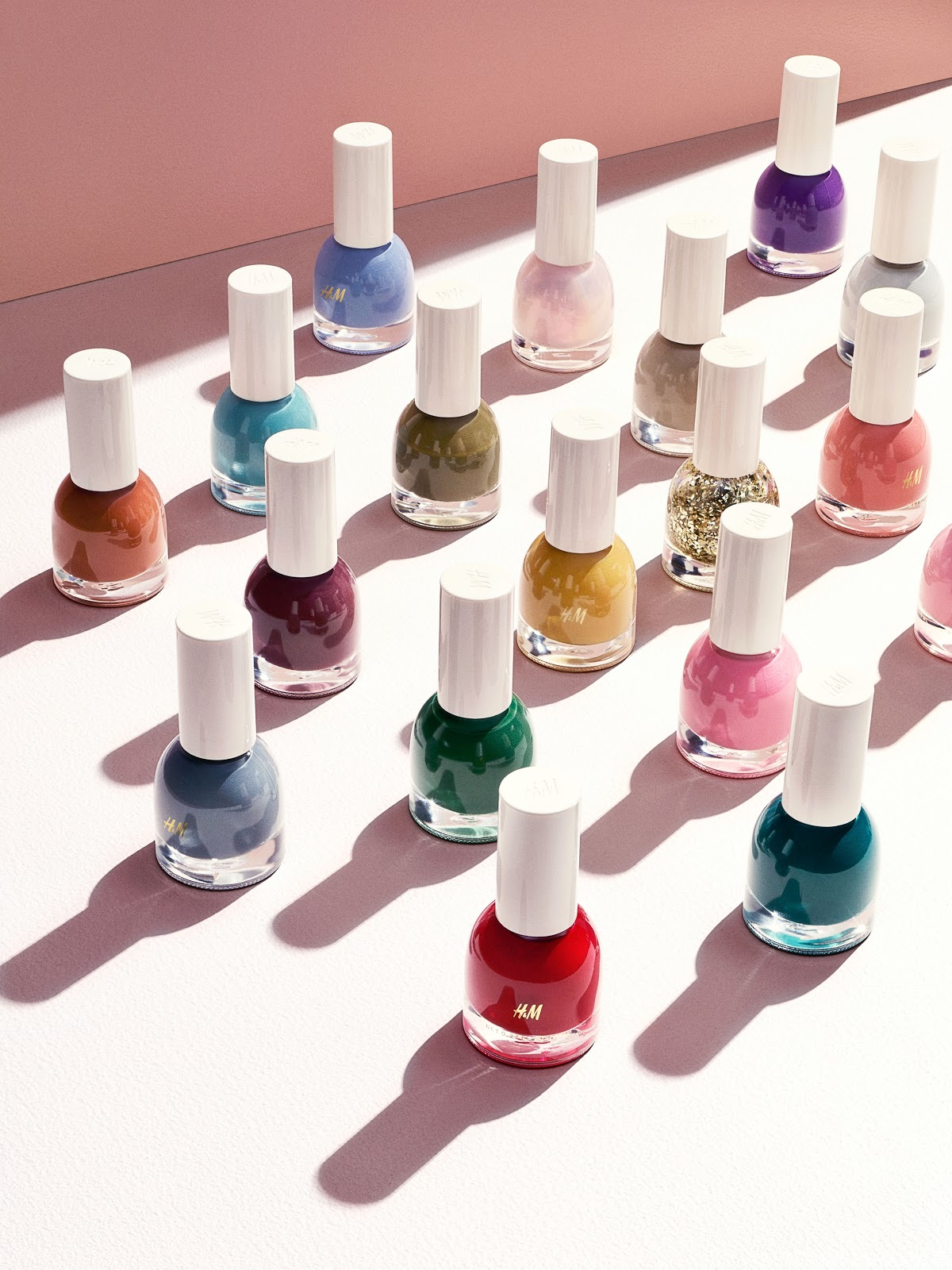 H&M beauty range launch autumn 2015 nail polishes