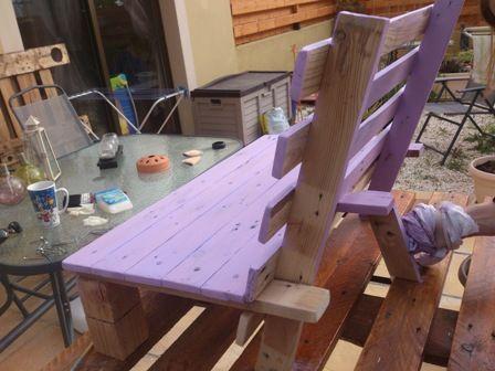Dise o de silla peque a para ni os - Sillas con palets ...