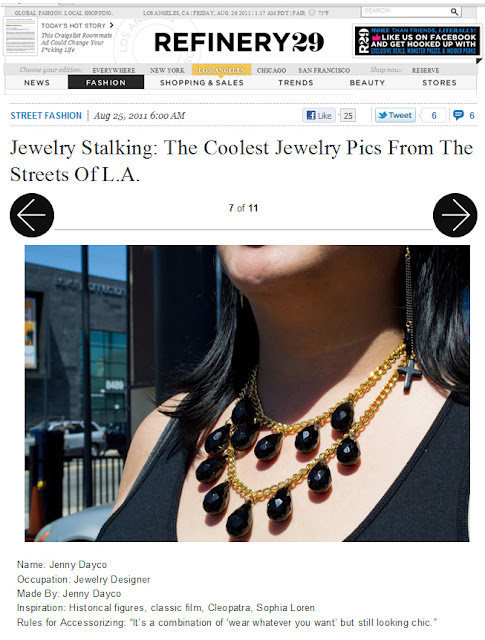 Refinery 29 features Jenny Dayco jewelry