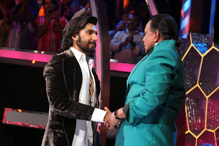 Ranveer Singh on the sets of DID 4 Photo Gallery