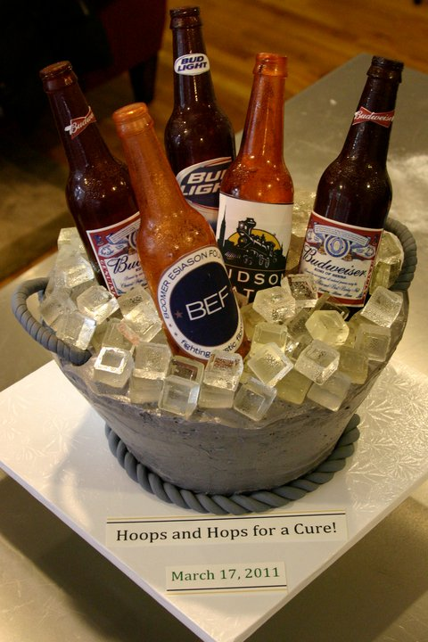 Beer Bottle Cake Decorations Amusing Beer Bottleice Bucket Cake Class At The Sugar Flower Shop  New Decorating Design