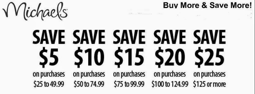 Michaels printable coupons september 2015 for Michael craft coupon printable