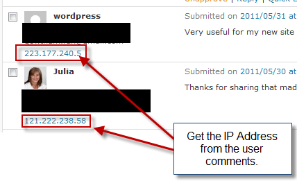 How to find website visited using ip address