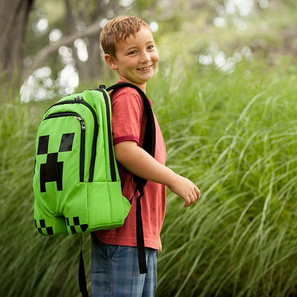 1. Minecraft Creeper Backpack