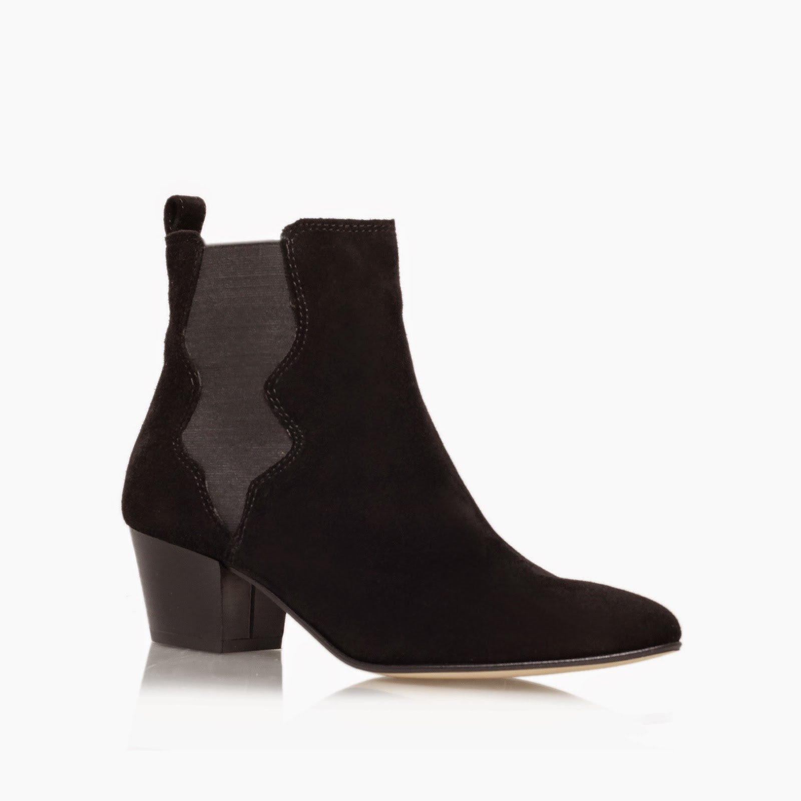 kurt geiger black suede boot