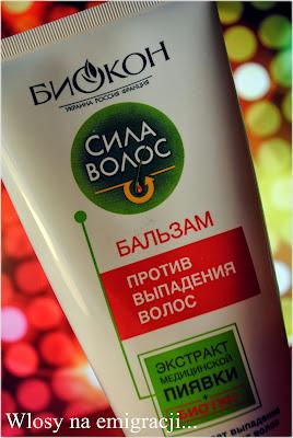 Balsam przeciw wypadaniu wlosow z enzymami pijawki lekarskiej.