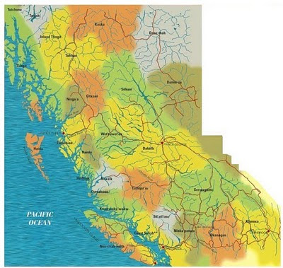 map of BC First Nations
