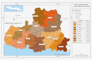 Peta Administrasi Kabupaten Pacitan
