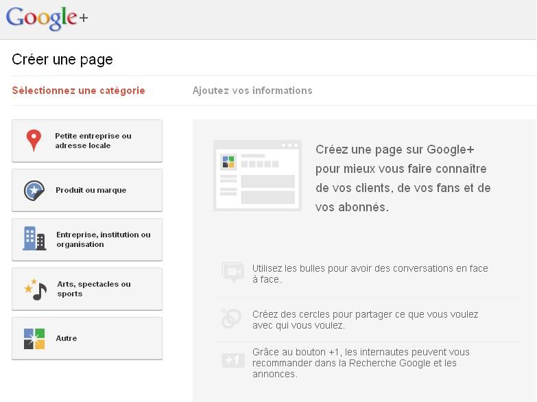 7allam3ak creer une page professionnelle sur google est for Creer petite entreprise