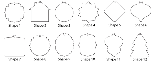 Go Back > Gallery For > Christmas Ornament Shapes