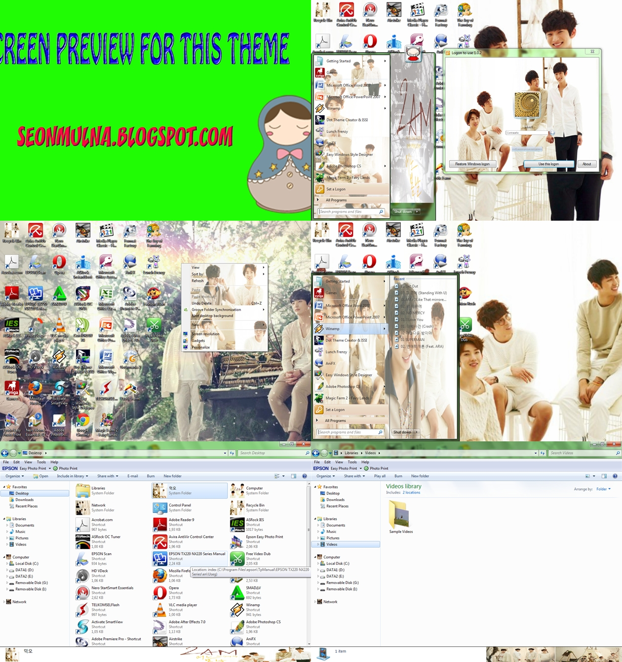 Download K Pop Themes For Win 7 2am B A P Teen Top