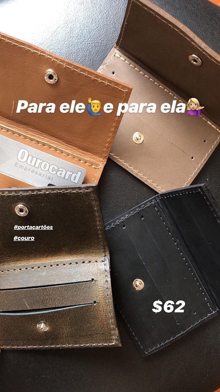 PORTA CARTÕES EM COURO!