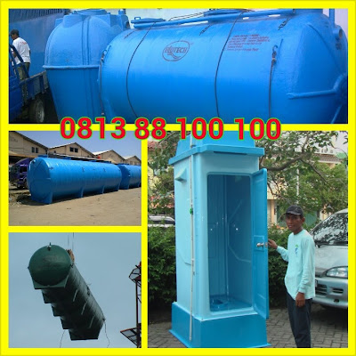 toilet portable, flexible toilet fibreglass, wc sementara, toilet proyek, portable toilet fibreglass, septic tank biotech