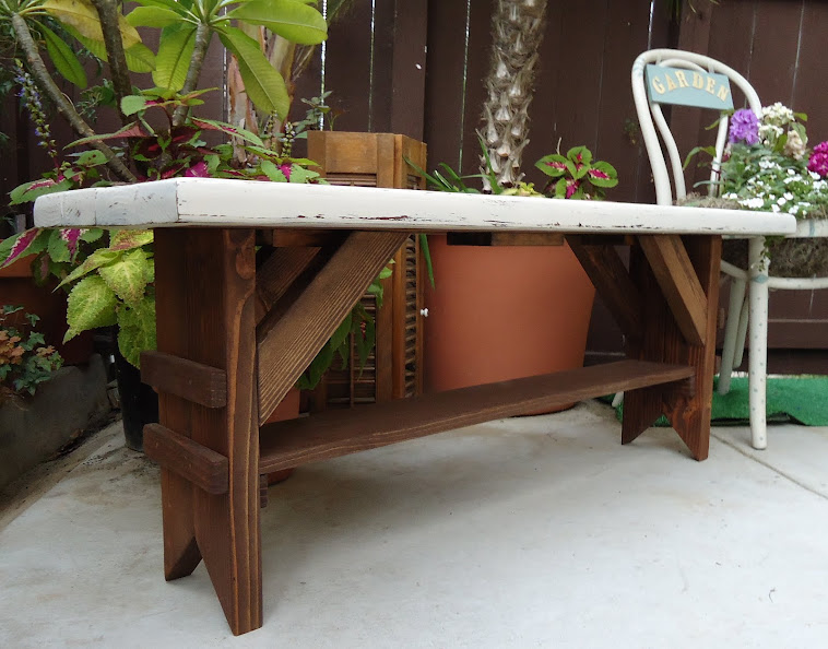 Vintage Style Farmhouse Bench - SOLD