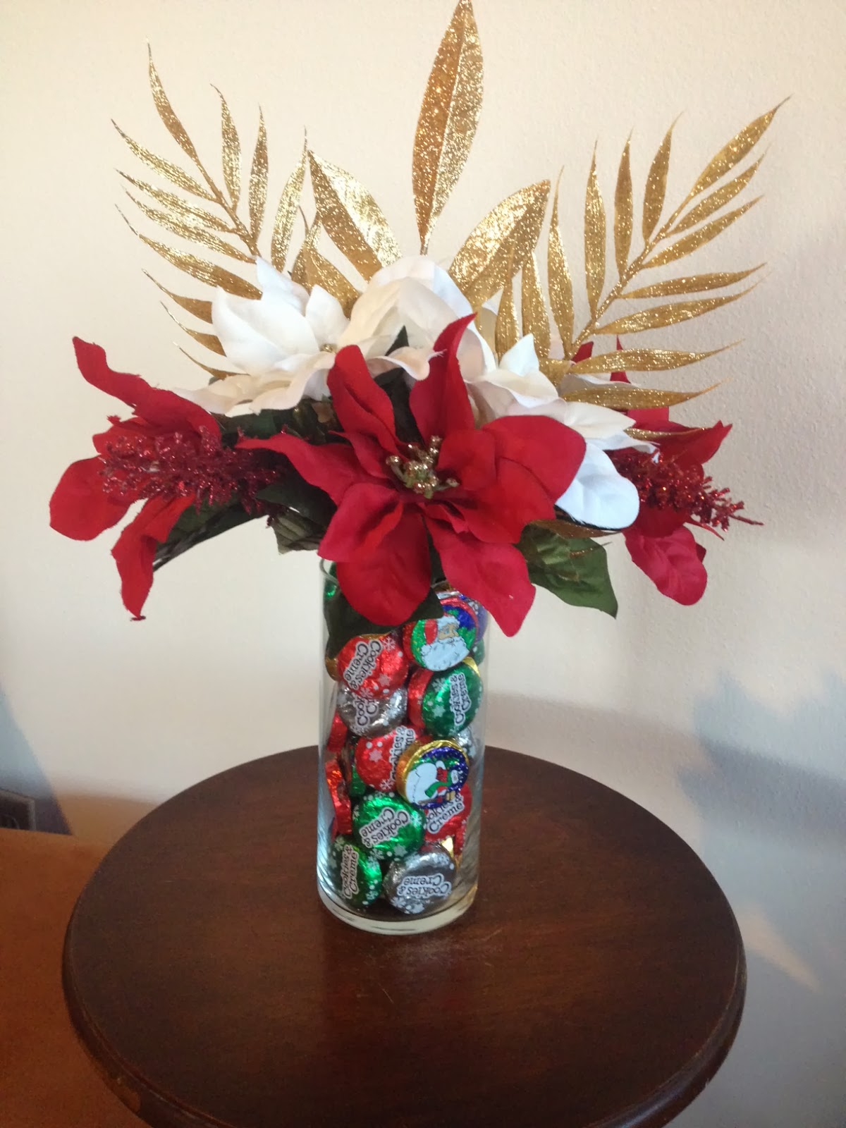 aim to create diy christmas candy floral arrangement