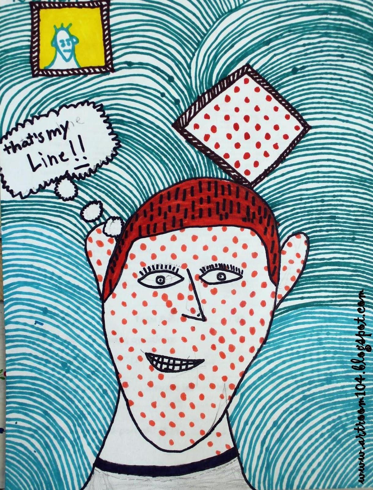Art Room 104: 4th Grade Lichtenstein Pop Art Portraits