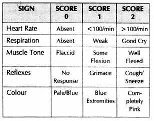 apgar test chart