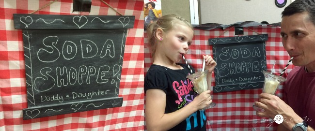 Soda shoppe, daddy daughter sock hop activity day girls, DIY Chalkboard Frames, MyLove2Create