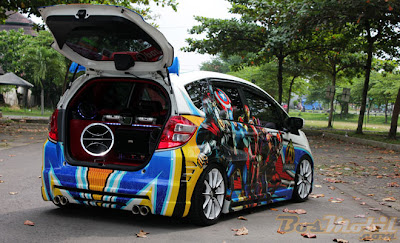 Foto Mobil Honda Jazz Air Brush Terbaru