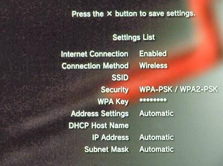 Konsola PS3 - ustawienia połączenia Wi-Fi podsumowanie