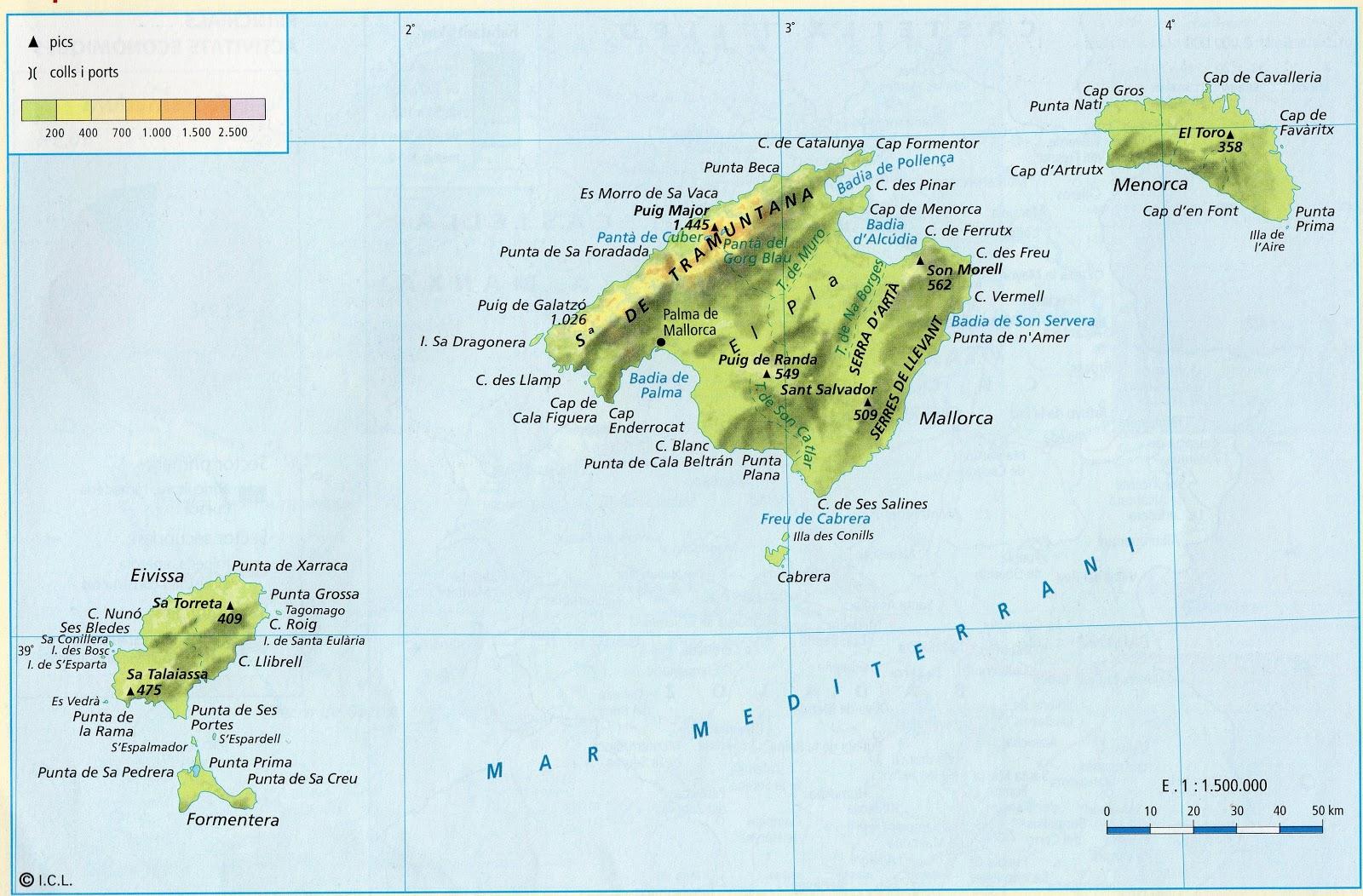 Illes balears mapa my blog - Islas de baleares ...