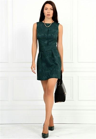 desenli yeşil elbise, 2015 elbise modelleri, adil ışık, kısa elbise, iş elbisesi