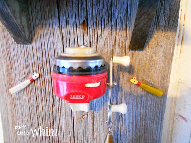 Vintage Fishing Reel as Key Hook | Fishing Reel Key Hook & Organizer from Denise on a Whim