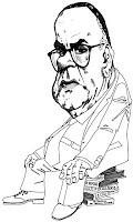 Caricatura del premio Nobel Camilo José Cela