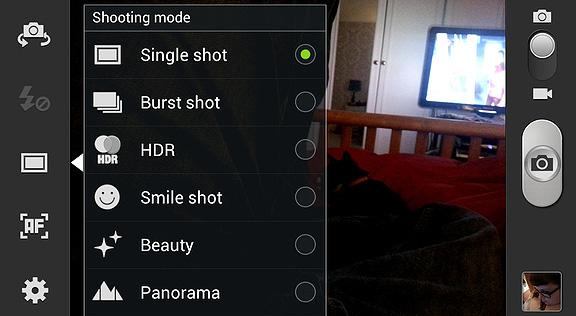Galaxy S4 Camera Specs