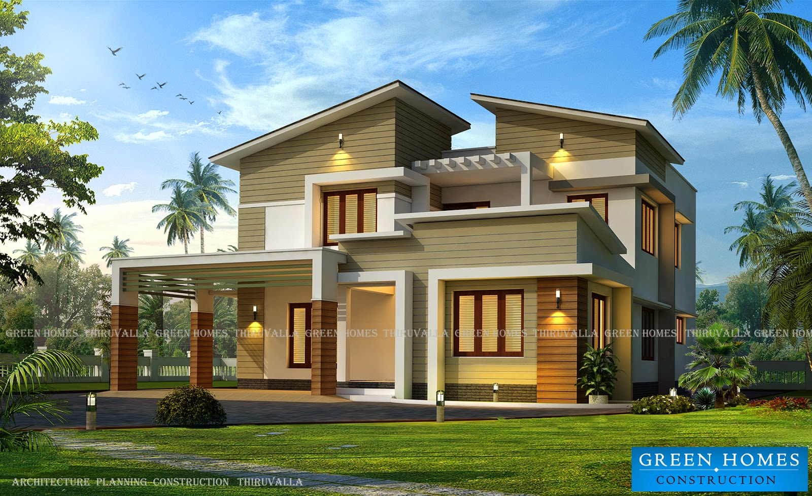 Green homes modern view home in 3350 for Modern view homes