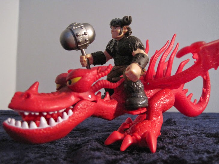 Dragon Riders Snotlout and Hookfang.