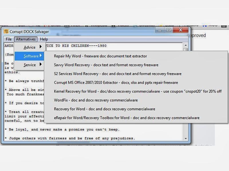Cara Memperbaiki File Word Doc Yang Corrupt Rusak Belajar Bersama