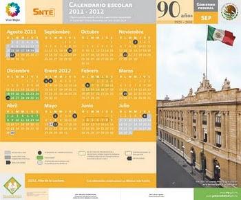 CALENDARIO ESCOLAR  2011-2012