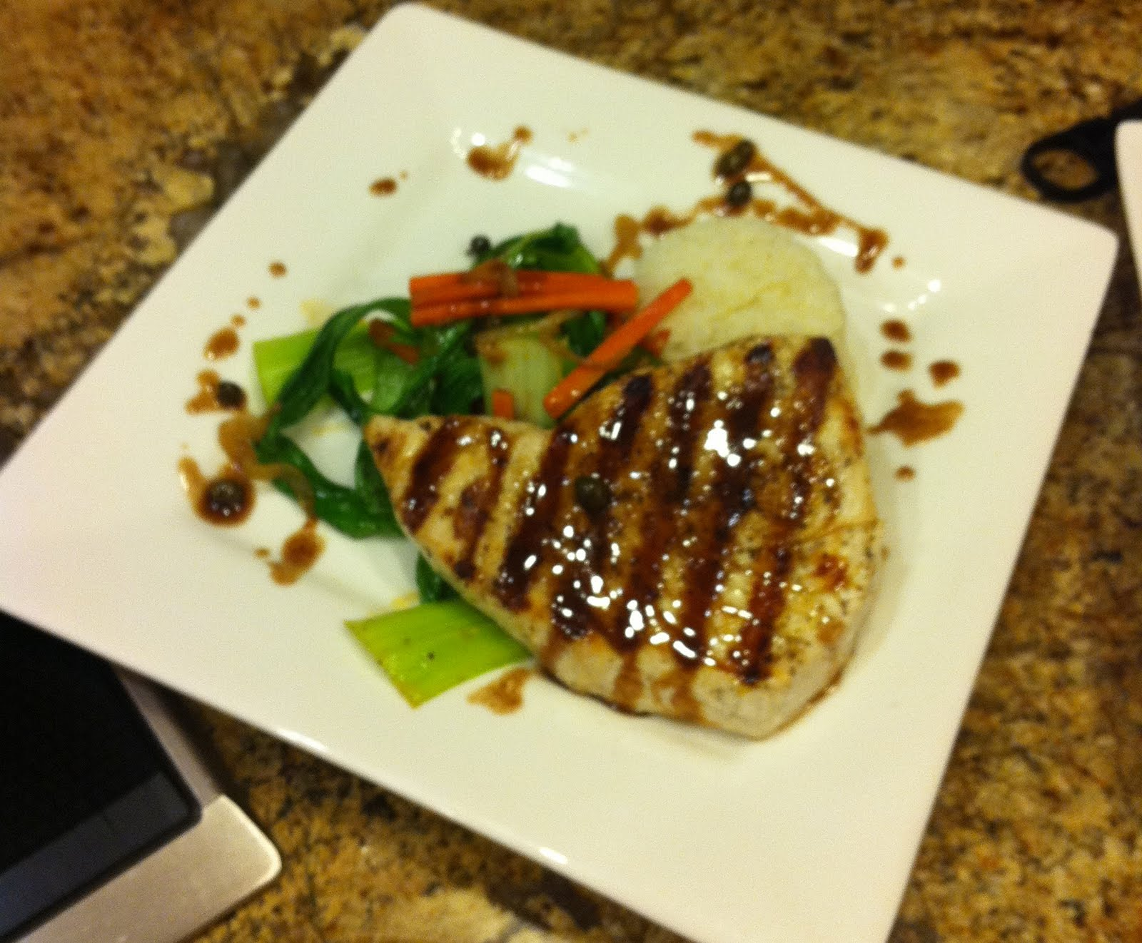 Taste of hawaii grilled marlin with baby bok choy for Marlin fish recipes